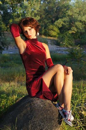 robe de soir�e: La fille dans une robe de soir�e