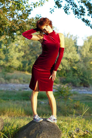 The girl in an evening dress Stock Photo - 16272064