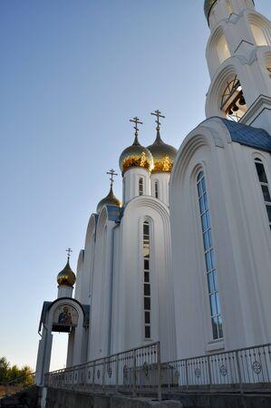 Orthodox churches in Russia Stock Photo