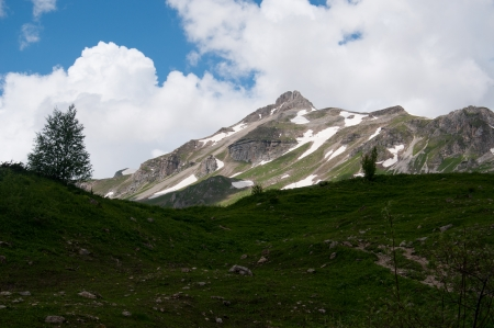 Majestic scenery of the Caucasus Nature Reserve photo