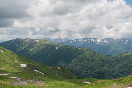 aiguille: beautiful mountain landscape of the Caucasus Nature Reserve Stock Photo