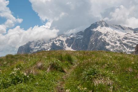 beautiful mountain landscape of the Caucasus Nature Reserve photo