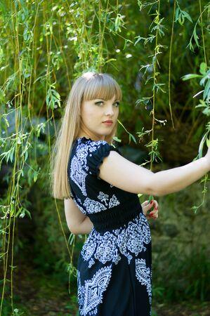 Russian girl on a walk
