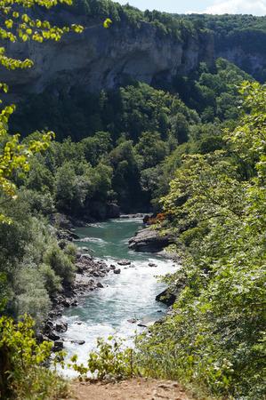Beautiful mountain river Caucasus Nature Reserve