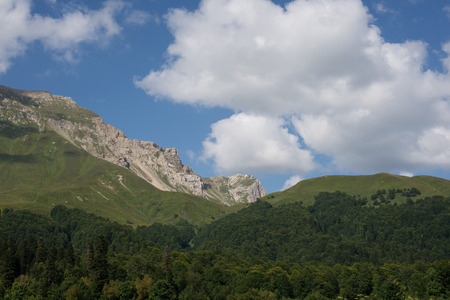 Majestic mountain landscapes of the Caucasian reserve