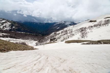 Weekend trip to Mount Fisht. Adygea 免版税图像