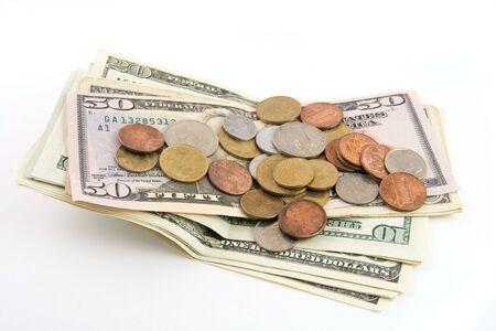 Money isolated on white background Stock Photo - 3736932