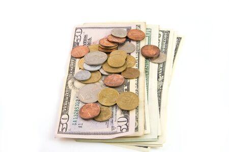 Money isolated on white background Stock Photo - 3737813