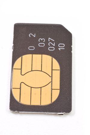 Sim card isolated on white background photo