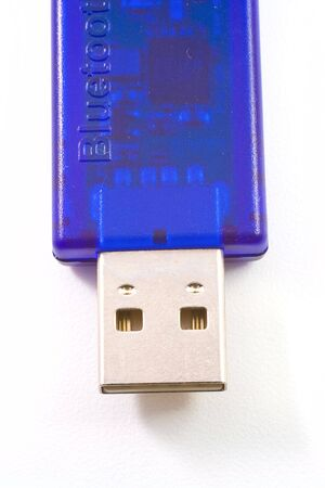 USB device isolated on white background photo