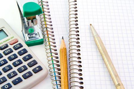 Notebooks isolated on white background Imagens
