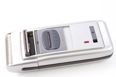 rou: Electric shaver isolaned on white background