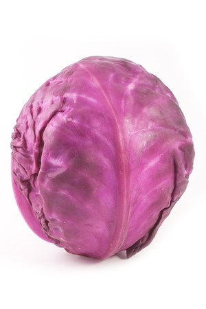 Red cabbage isolated on white background Imagens