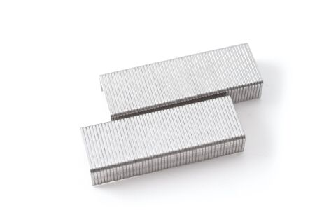 broaching: Staples isolated on white background
