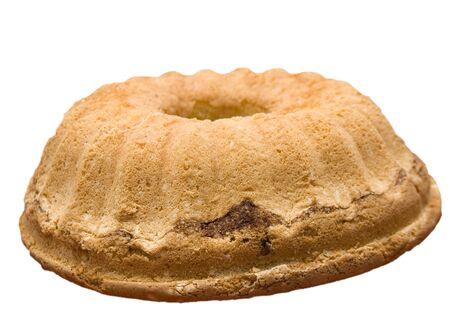 Sweet cake on the white background photo