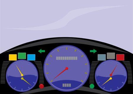 dashboard car: Vector cockpit of modern car