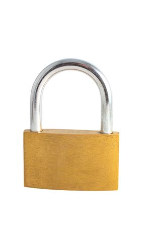 Padlock isolated on white background Stock Photo - 4691862