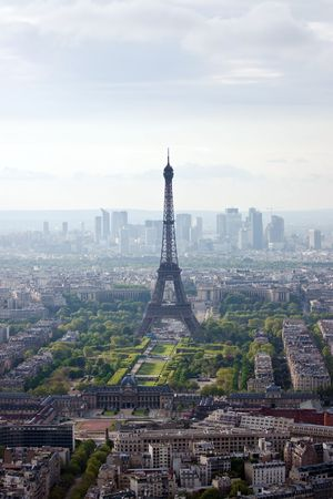 Paris aerial view from Montparnasse tower photo