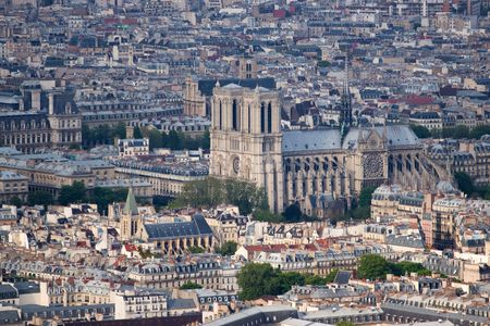 Paris aerial view from Montparnasse tower Stock Photo - 4913075