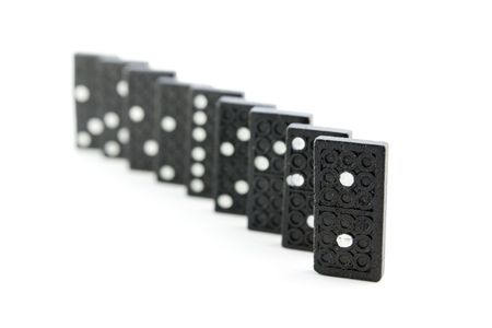 Dominoes isolated on white background photo