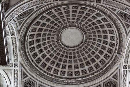 Dome inside the Pantheon, Paris France