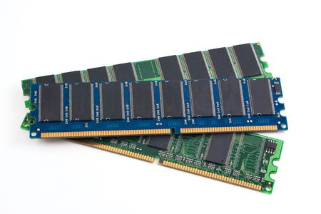 ddr: DDR memory module isolated on white background Stock Photo
