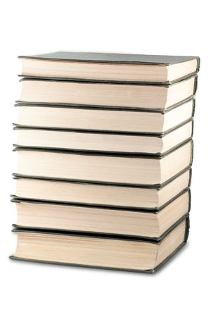 Books stack isolated on white background Stock Photo - 5172643
