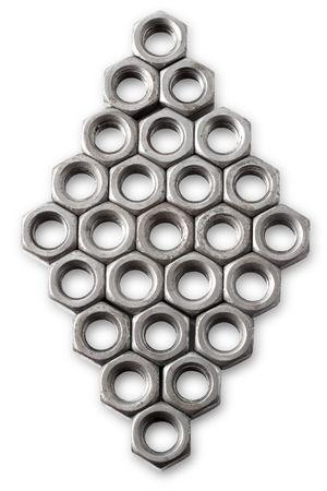 Nut isolated on white background photo