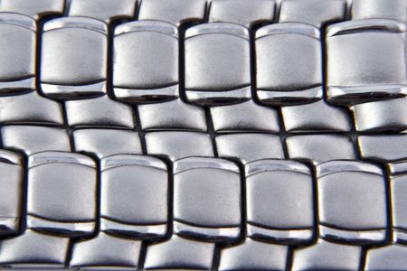 matted: Matted stainless steel background with reflection details