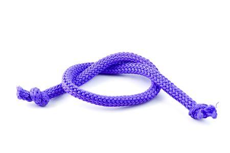 bonding rope: Part of blue rope isolated on white background