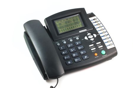 Phone isolated on white background photo