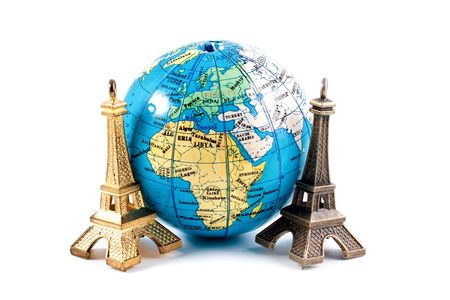 Model Eiffel tower isolated on white background Stock Photo - 5335640
