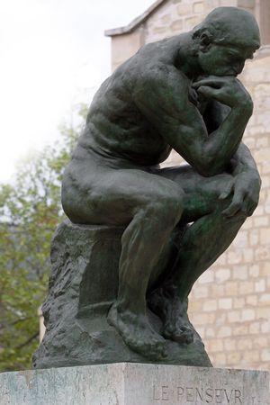 epoch: Il pensatore di Rodin nel Museo di Parigi