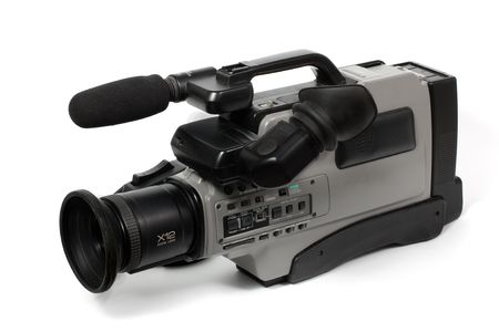 ccd: Professional camcorder isolated on white background