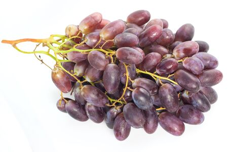 sauternes: Grape isolated on blue background