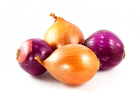 Onions family isolated on white background