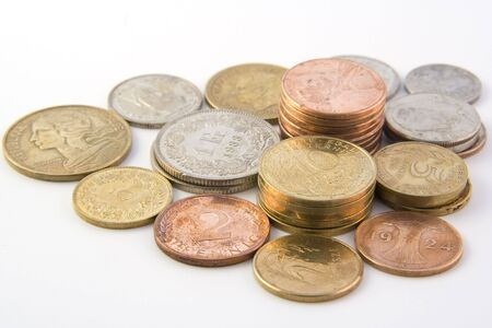 Coins isolated on white background Stock Photo - 5547936