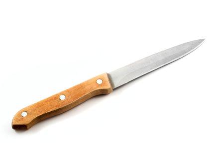 Kitchen knife isolated on white background photo