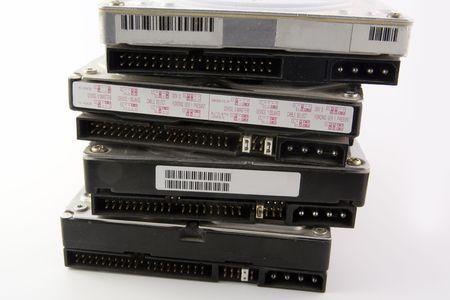 Hard disks isolated on white background Stock Photo - 5876681