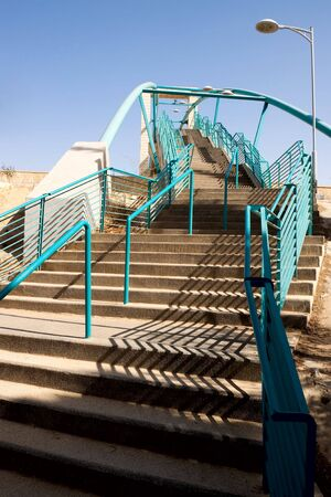 ascend: Staircase ascend to the blue sky