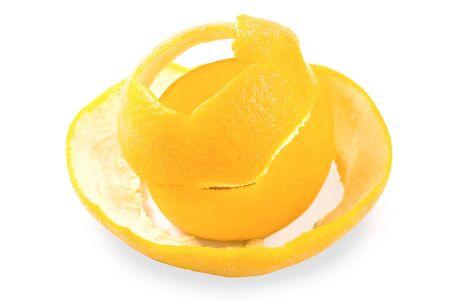 Lemons rind isolated on white background Stock Photo