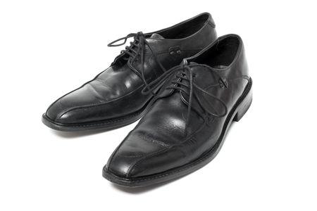 tienda de zapatos: Zapatos de hombre aislados sobre fondo blanco