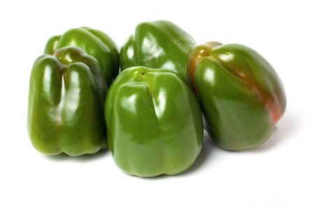 Peppers family isolated on white background Stock Photo - 6329885