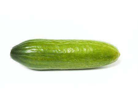 Cucumber isolated on white background Imagens