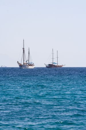 Sailing yaht on Red Sea Stock Photo - 6793214