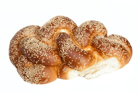 Challah isolated on white background Stock Photo - 7187507