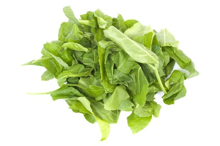Spinach leaves isolated on white background photo