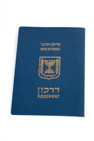israeli: Pasaporte israel� aislado sobre fondo blanco