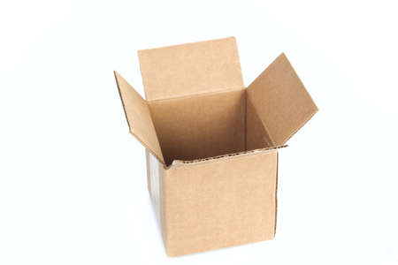 Package box isolated on white background photo