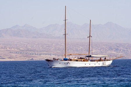 Sailing yaht on Red Sea Stock Photo - 7712715